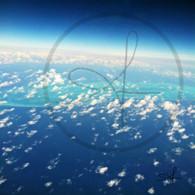 Belize Clouds over Caribbean Blue