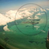 Belize Flying Over Caribbean