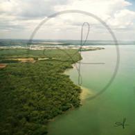 Belize Coastline from Plane