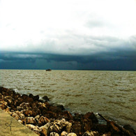 Belize City Sea Storm Edge