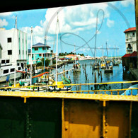 Belize City View of Boats from Haulover Bridge