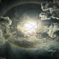 Sand Hill Sun Rainbow through Clouds