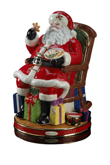 Christopher Radko Midnight Treats Santa Cookie Jar