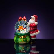 Christopher Radko Vintage Santa Gift Bag Snowglobe