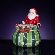 Christopher Radko  Splendid Santa Candy Bowl