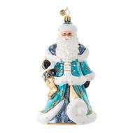 Christopher Radko Snowy Blue Santa
