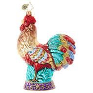 Christopher Radko Christmas  Rooster - front