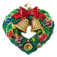 Christopher Radko Heart-Shaped Wreath