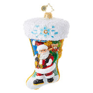 Christopher Radko Santa Scene Stocking