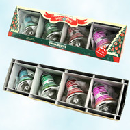 Shiny Brite Multi Colored Striped Ornaments