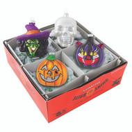 Shiny Brite Halloween s/4 Figural Heads