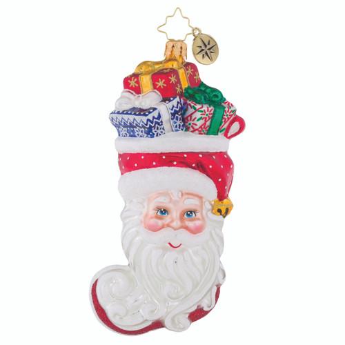 Christopher Radko Stuffed Santa - front