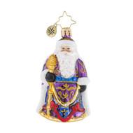 Christopher Radko Santa's Christmas Cape Little Gem -front