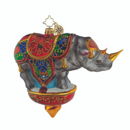 Christopher Radko Royal Rhino- side
