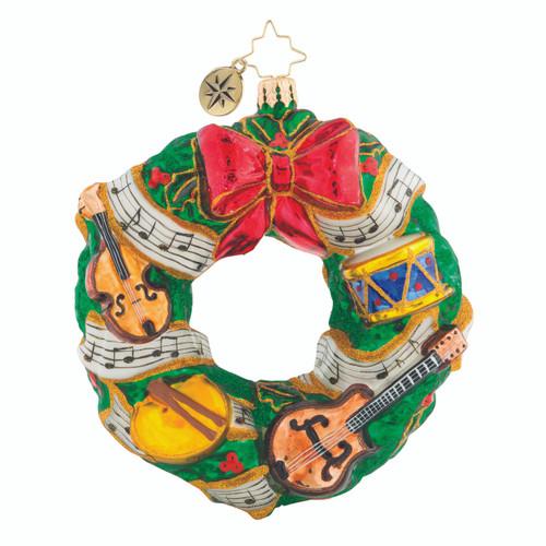 Christopher Radko Rhythmic Christmas Wreath