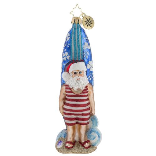 Christopher Radko Surf And Turf Santa - front
