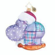 Christopher Radko Happy Holiday, Hippo!