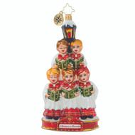 "Christopher Radko  Ornament of the Month - 2018 ""A Christmas to Remember"" collection - Caroling Quintet - front"