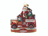 Christopher Radko Festive Fire Truck Fun - Ornament of the Month - A Christmas to Remember
