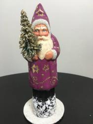 Ino Schaller Santa in Purple with stars