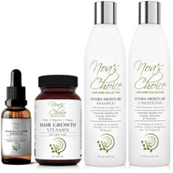 Noa's Choice Organic AYURVEDIC Hair Growth & Strengthening Shampoo - Conditioner- Hair Elixir - Hair growth Vitamins- Ayurvedic Hair Elixir Kit