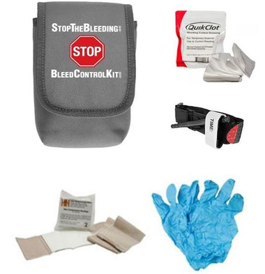 stop the bleed kit, stopping the bleeding, bleed control kit