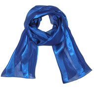 Women's Long Satin Solid Color Scarf