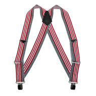 Welch Big and Tall Men's Elastic Clip-End American Flag Trucker Suspenders