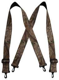Realtree Men's Big and Tall Camouflage Suspenders with Swivel Clips USA Made