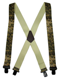 MTL Men's Big & Tall Elastic Clip-End 2 Inch Whitetail Deer Suspenders USA Made