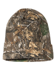 Realtree Edge 12 Inch Knit Outdoor Camouflage Beanie Camo Cap