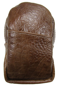 Soft Leather Cigarette Case Regular and 100's Made in the USA, Croc Brown