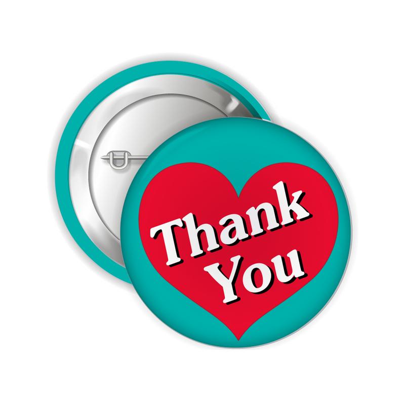 Thank You Button Pins