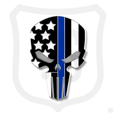 Flag Skull Support - Police