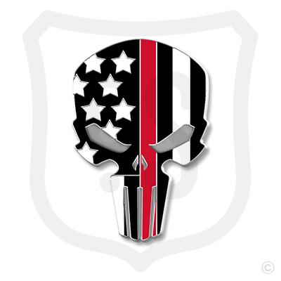 Flag Skull Support - Fire