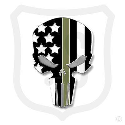 Flag Skull Support - Military