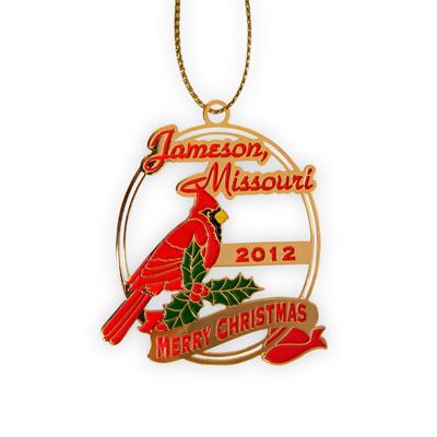 Etched Brass Ornament (Soft Enamel Color)