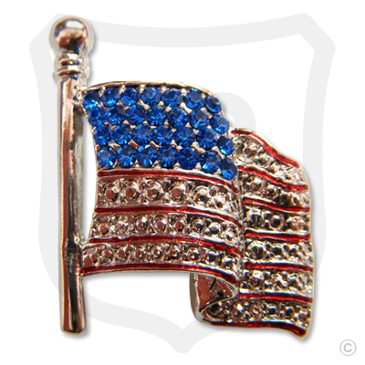 American Flag With Czech Crystals