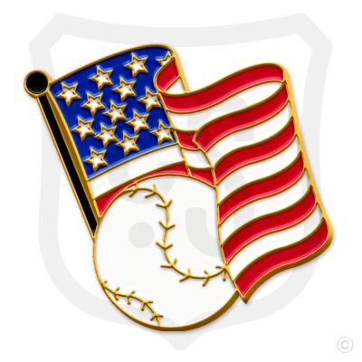 American Flag & Baseball
