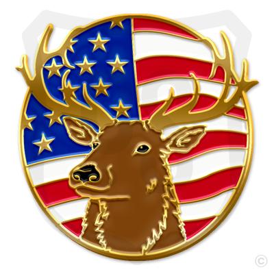 Elk / American Flag