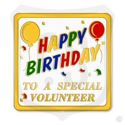 Happy Birthday Volunteer