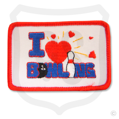 I Love Bowling Patch