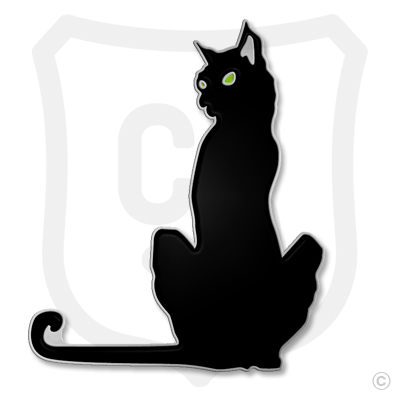 Purrfect Pin (Black Cat) - Green Eyes