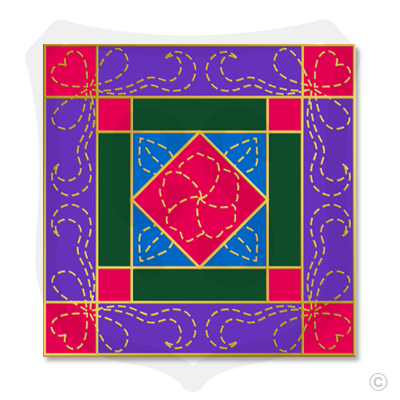 "Quilt ""Diamond in a Square"""