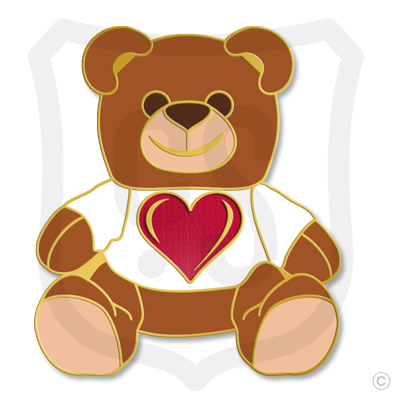 Teddy Bear Brown with Red Heart