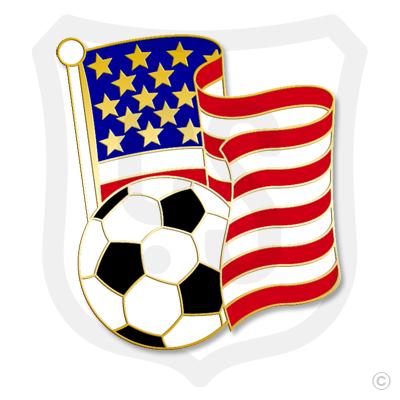 USA Flag / Soccer Ball