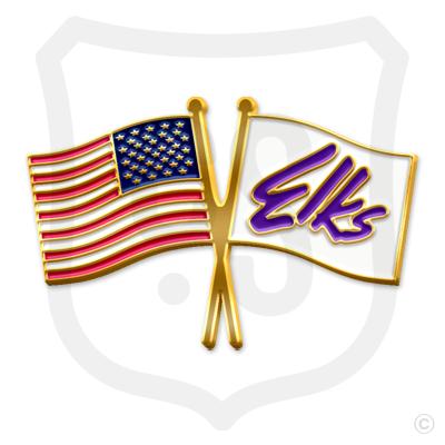 U.S. Flag & Elks Flag