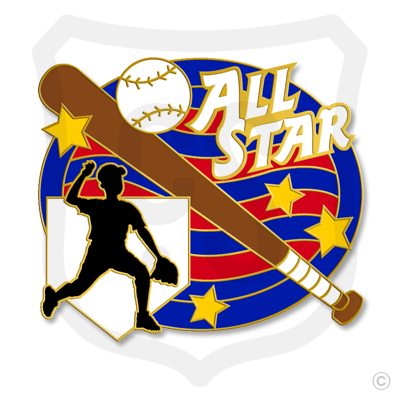 All Star Baseball Boy Silhouette