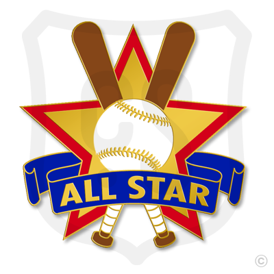 All Star Baseball Star & Bats