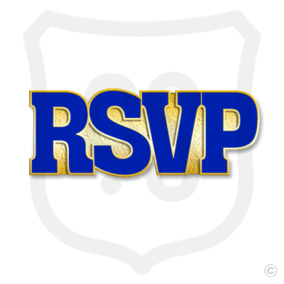 RSVP (Blue Spellout)
